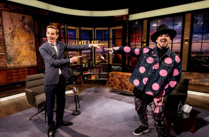 The Late Late Show is all over the place