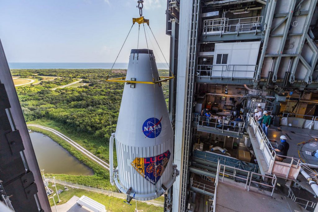 Asteroid probe mounted on Atlas booster originally assigned to astronaut flight