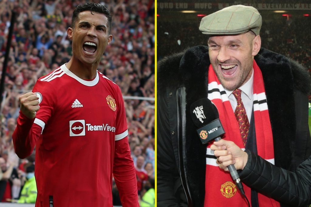 Tyson Fury jokingly warns Cristiano Ronaldo 'the town ain't big enough for both of us' and reveals Manchester United title fight dream after Las Vegas bouts