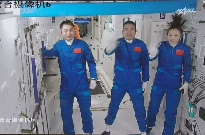 Three astronauts begin half-year mission on Chinese space station