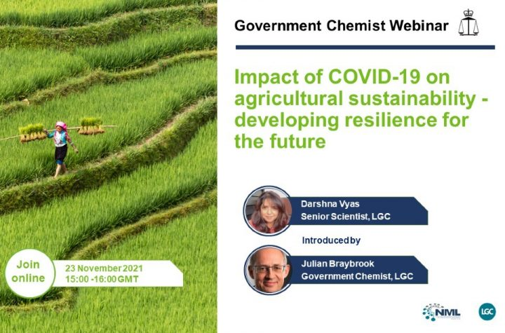 Government Chemist webinar: Covid and agricultural sustainability