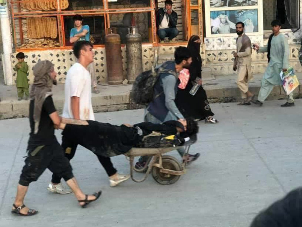 US marines killed in Kabul blast and several wounded, Pentagon confirms